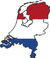 Netherlands Flag Map - Mapsof.Net Map