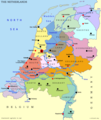 Netherlands Map Divisions - Mapsof.Net Map