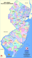 New Jersey Political Subdivisions Map - Mapsof.Net Map