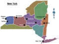 New York Regions Map - Mapsof.Net Map