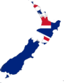 New Zealand Flag Map - Mapsof.Net Map