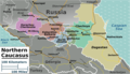 North Caucasus Regions Map - Mapsof.Net Map