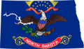 North Dakota Flag Map - Mapsof.Net Map