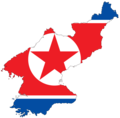 North Korea Flag Map - Mapsof.Net Map
