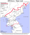 North Korea Major Roads - Mapsof.Net Map
