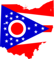 Ohio Flag Map - Mapsof.Net Map