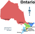 Ontario Regions Map - Mapsof.Net Map