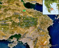 Parnitha Satellite Map French - Mapsof.Net Map
