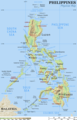 Philippines Physical Map - Mapsof.Net Map