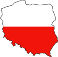 Poland Flag Map - Mapsof.Net Map