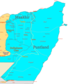 Puntland Map Regions - Mapsof.net