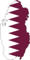 Qatar Flag Map - Mapsof.Net Map