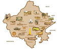 Rajasthan Tourism Map - Mapsof.Net Map