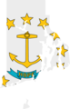 Rhode Island Flag Map - Mapsof.net