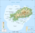 Rodrigues Island Topographic Map French - Mapsof.net