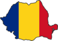 Romania Flag Map - Mapsof.Net Map