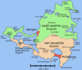 Saint Martin Island Map - Mapsof.Net Map