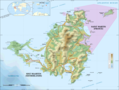 Saint Martin Island Topographic Map - Mapsof.Net Map