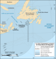 Saint Pierre And Miquelon Eez Map Fr - Mapsof.Net Map