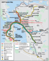 San Francisco Bart System Map (railway) - Mapsof.Net Map
