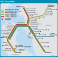 San Francisco Bay Area Metro Map (bartl) - Mapsof.Net Map
