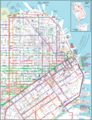 San Francisco Downtown Transport Map - Mapsof.Net Map