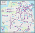 San Francisco Night Bus Map (owl) - Mapsof.Net Map