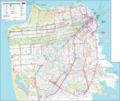 San Francisco Transport Map - Mapsof.Net Map