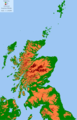 Scotland Land Use By Height - Mapsof.net