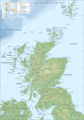 Scotland Topographic Map 1 - Mapsof.net