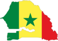 Senegal Flag Map - Mapsof.net