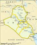 Simple Map Of Iraq And Its Neighbors - Mapsof.Net Map