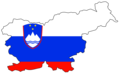 Slovenia Flag Map - Mapsof.Net Map