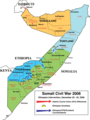 Somalia Civil War 2006 - Mapsof.Net Map