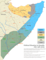 Somalia States Regions Districts - Mapsof.Net Map