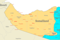 Somaliland Map Regions - Mapsof.Net Map