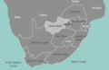 South Africa North West Map - Mapsof.Net Map