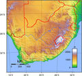 South Africa Topography - Mapsof.Net Map