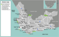 South Africa Western Cape Map - Mapsof.Net Map