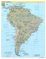 South America Physical Map - Mapsof.Net Map