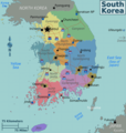 South Korea Regions Map - Mapsof.net