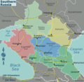 Southern Russia Regions Map2 - Mapsof.Net Map