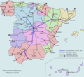 Spain Railways - Mapsof.Net Map