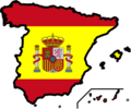Spain Flag Map - Mapsof.Net Map