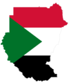 Sudan Flag Map - Mapsof.net
