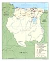 Suriname Political Map 1991 - Mapsof.Net Map