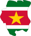 Suriname Flag Map - Mapsof.net