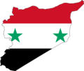 Syria Flag Map - Mapsof.Net Map