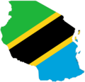 Tanzania Flag Map - Mapsof.Net Map