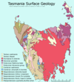 Tasmania Surface Geology Map - Mapsof.net